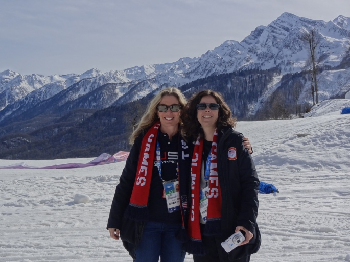 Melinda Couch, PT and Jen Burke, MD - Medical staff for US Figure Skating at the 2014 Winter Olympic Games