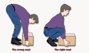 Proper lifting illustration